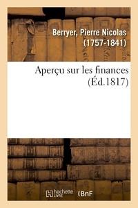 Pierre Nicolas Berryer - Aperçu sur les finances.