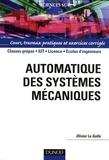Olivier Le Gallo - Automatique des systèmes mécaniques.