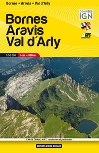 FFRandonnée - Bornes Aravis Val d'Arly - 1/50 000.