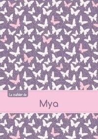 XXX - Cahier mya ptscx,96p,a5 papillonsmauve.