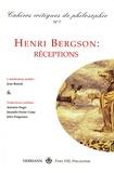 Eric Lecerf - Cahiers critiques de philosophie N° 7, décembre 2008 : Henri Bergson : réceptions.