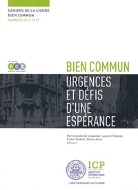 Pierre-André de Chalendar et Laurent Villemin - Cahiers de la Chaire bien commun N° 1, 2017 : Bien commun - Urgences et défis d'une espérance.