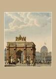 Charles Percier - Carnet Ligné, Paris Arc de triomphe du carrousel.