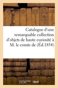 Theret - Catalogue d'une remarquable collection d'objets de haute curiosité à M. le comte de :.