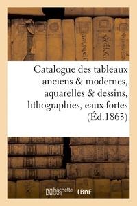 Francis Petit - Catalogue des tableaux anciens & modernes, aquarelles & dessins, lithographies, eaux-fortes,.