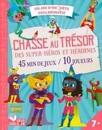 N'Joy et Benjamin Bouchet - Chasse au trésor des super-héros et héroïnes - 45 min de jeux / 10 joueurs. Avec un plateau de jeu, des énigmes, des cartes pour inviter les joueurs ou les diplômer et un livret d'explications et de conseils pour les parents.