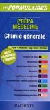Hachette - Chimie générale - Prépa médecine PCEM 1.