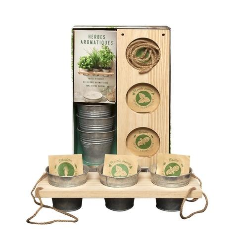 Coffret herbes aromatiques. Faites pousser des herbes aromatiques dans votre cuisine
