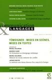 Michèle Gellereau et Béatrice Fleury - Communication et Langages N° 149, Septembre 20 : Témoigner : mises en scènes, mises en textes.