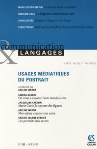 Adeline Wrona et Samira Ouardi - Communication et Langages N° 152, juin 2007 : Usages médiatiques du portrait.