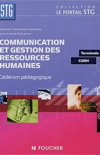 Sylvie Benoit et Martine Le Grand - Communication Gestion des ressources humaines Tle STG - CD ROM pédagogique.
