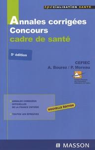 CEFIEC et Annick Bourez - Concours Cadre de santé - Annales corrigées.
