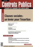 Catherine Bergeal et Patrick Loquet - Contrats publics N° 122, Juin 2012 : Clauses sociales : un levier pour l'insertion.