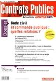 Laurent Richer - Contrats publics N° 169, octobre 2016 : Code civil et commande publique : quelles relations ?.
