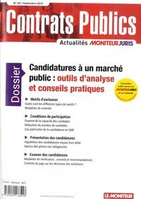 Julien Elmaleh - Contrats publics N° 201, septembre 20 : Candidatures à un marché public : outils d'analyse et conseils pratiques.