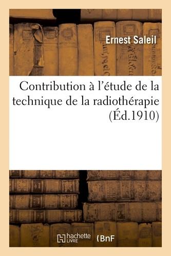 Contribution à l'étude de la technique de la radiothérapie