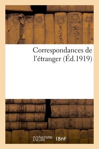 Hachette BNF - Correspondances de l'étranger.