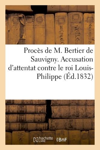 Hachette BNF - Cour d'assises de la Seine. Procès de M. Bertier de Sauvigny.
