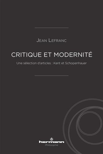 Critique et modernité. Une sélection d'articles : Kant et Schopenhauer