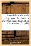 Delaunay - De la responsabilité des ministres et du projet de loi sur le mode de procéder.