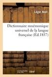 Noël - Dictionnaire mnémonique universel de la langue française.