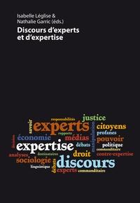 Isabelle Léglise et Nathalie Garric - Discours d'experts et d'expertise.