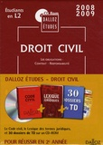 Dalloz-Sirey - Droit civil - Etudiants en L2, Le Code civil, le Lexique des termes juridiques et 30 dossiers de TD.