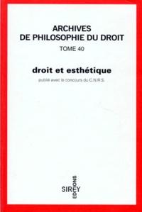 Philippe Jestaz et Nicolas Grimaldi - Droit et esthétique.