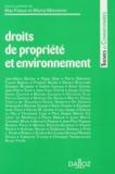 Max Falque et Michel Massenet - Droits de propriété et environnement.