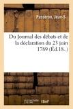 Marcel Thomas - Du Journal des débats et de la déclaration du 23 juin 1789.