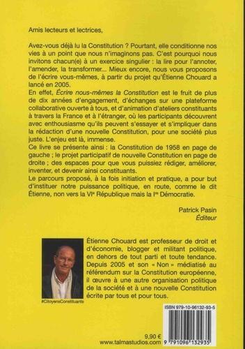Ecrire nous-mêmes la Constitution. Exercices d'entraînement pour préparer un processus constituant populaire - #CitoyensConstituants