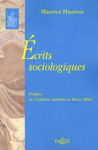 Maurice Hauriou - Ecrits sociologiques.