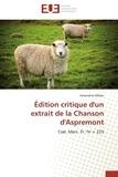 Amandine Mélan - Edition critique d'un extrait de la Chanson d'Aspremont - Cod. Marc. Fr. IV = 225.