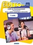 Didier - Edito niveau A1 - Carte de téléchargement enseignant. Manuel numérique premium. 1 code.