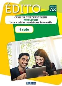 Elodie Heu et Myriam Abou-Samra - Edito Niveau A2 - Carte de téléchargement enseignant, 1 code.