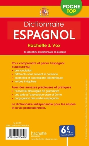 Dictionnaire Espagnol Poche Top Hachette Vox De Hachette Education Poche Livre Decitre
