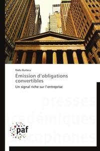Roxana Burlacu - Emission d'obligations convertibles.