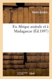 Gindre - En Afrique australe et à Madagascar.