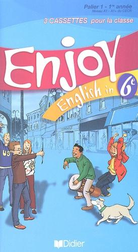 Didier - Enjoy English in 6e - 3 cassettes pour la classe.