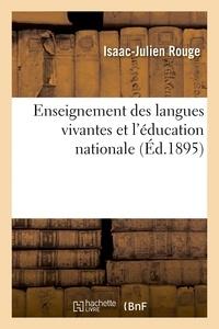 Rouge - Enseignement des langues vivantes et l'éducation nationale.