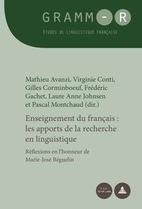 Mathieu Avanzi et Virginie Conti - Enseignement du français - Les apports de la recherche en linguistique.