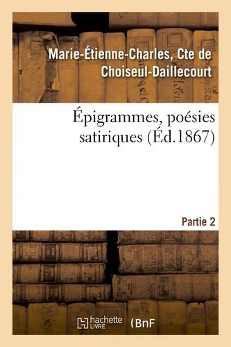 Hachette BNF - Epigrammes, poesies satiriques. Partie 2.