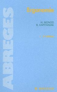 Hugues Monod et Bronislaw Kapitaniak - Ergonomie. - 2ème édition.