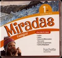Hachette Education - Espagnol 1re B1 Miradas. 1 Clé Usb