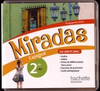 Hachette Education - Espagnol 2de A2+ Miradas. 1 Clé Usb