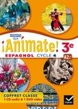 Marie José Casas et Nadine Castéra - Espagnol 3e A2 vers B1 Animate!. 1 DVD + 1 CD audio