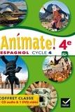 Marie José Casas et Nadine Castéra - Espagnol 4e A1+ Animate!. 1 DVD + 1 CD audio