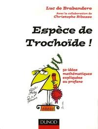 Luc de Brabandere et Christophe Ribesse - Espèce de Trochoïde ! - 50 idées mathématiques expliquées au profane.