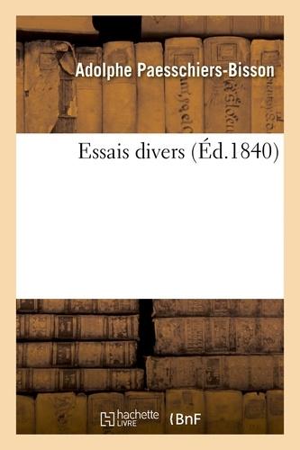 Hachette BNF - Essais divers.