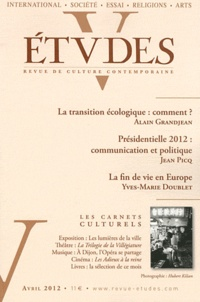 Alain Grandjean et Jean Picq - Etudes N° 4164, Avril 2012 : .